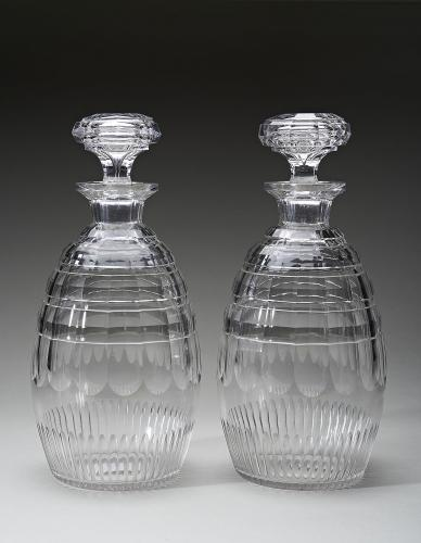 Pair of magnum decanters