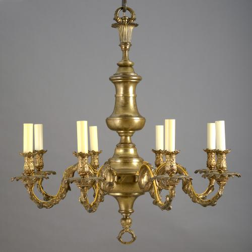 George IV Lacquered Brass Chandelier