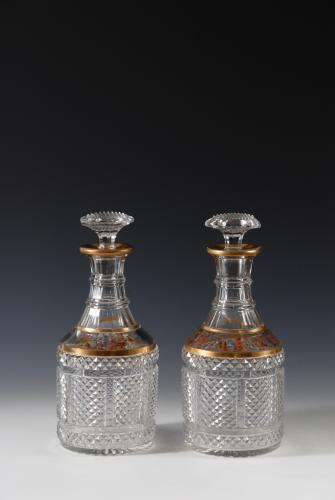 Rare Collins' Decorated Decanters