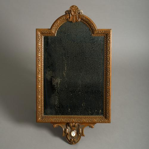 Early Victorian Oak Mirror