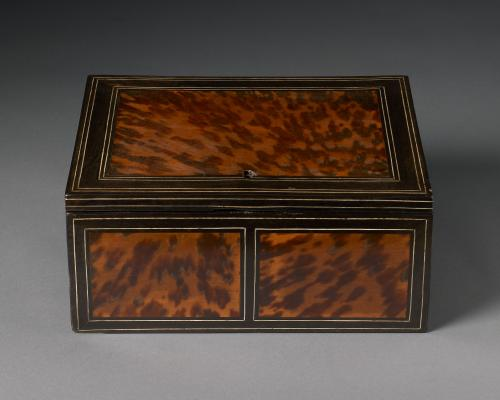 Writing Case, Ebony, Ivory and Tortoise Shell Flemish, c.1680