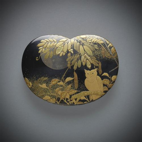 Lacquer Box with Owl