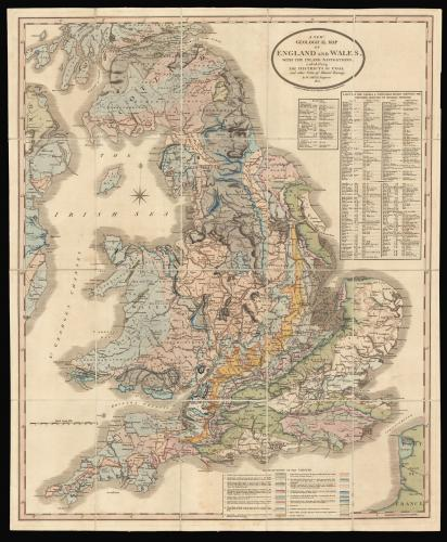 Rare reduction of William Smith's seminal geological map