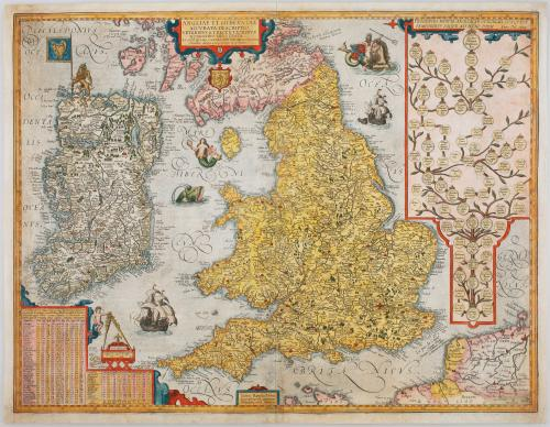 Jan Baptiste Vrients map of England, Wales and Ireland