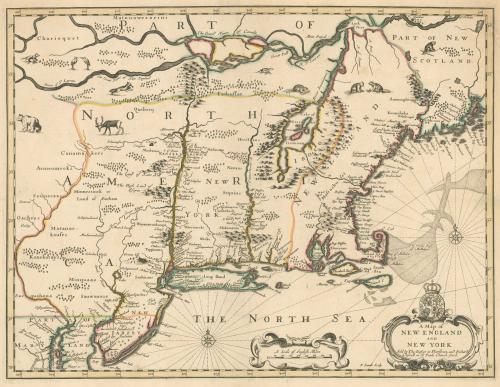 John Speed's map of New England and New York