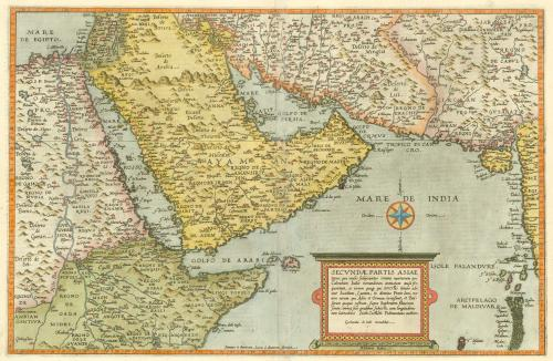Gerard de Jode map of the Middle East