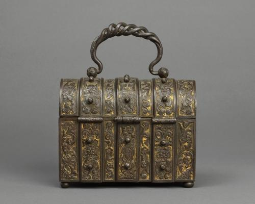 Casket, Engraved iron, with original gilding Italy, Lombardy, second half 16th century