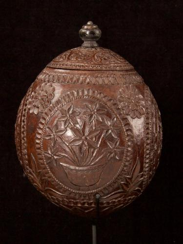 Carved and decorated coconut_a