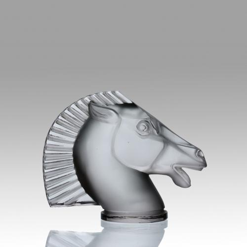 Art Deco Frosted Glass Car Mascot 'Longchamps' by René Lalique