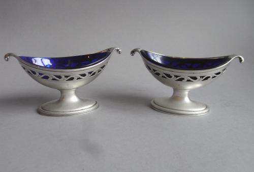 A fine pair of George III Salt Cellars made in London in 1792 by Robert Hennell