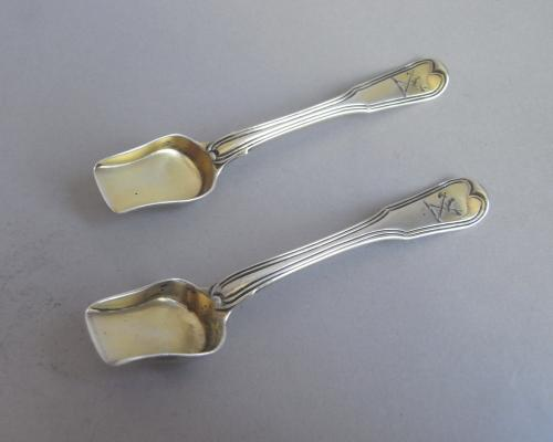 A fine pair of George III Salt Shovels made in London in 1813 by William Eley, William Fearn & William Chawner