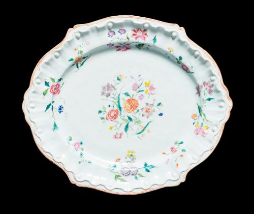 Chinese export porcelain famille rose meatdish