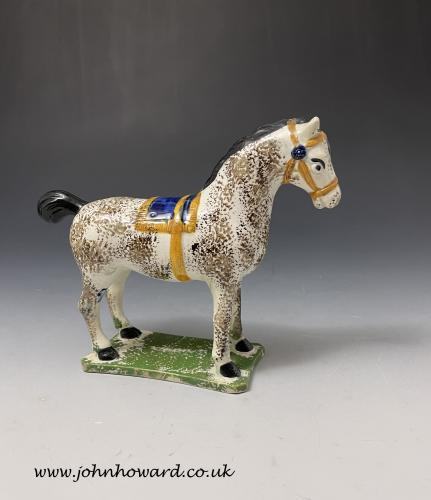 Antique pottery figure of a horse St Anthony's Pottery Newcastle upon Tyne