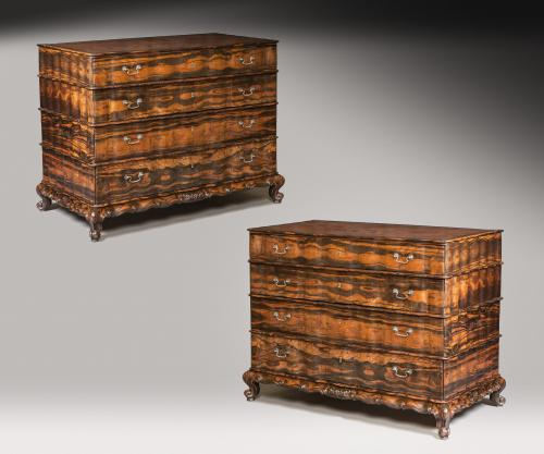 IMPORTANT PAIR OF CALAMANDER WOOD COMMODES CHESTS Sri Lanka, c. 1800