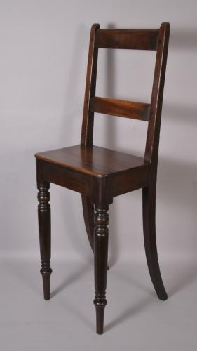 19th Century Mahogany Child's High Chair J Collins & Son