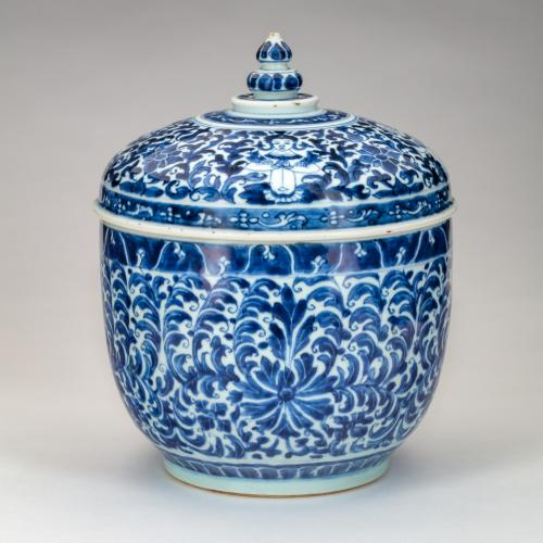 CHINESE POT AND COVER FOR THE THAI MARKET