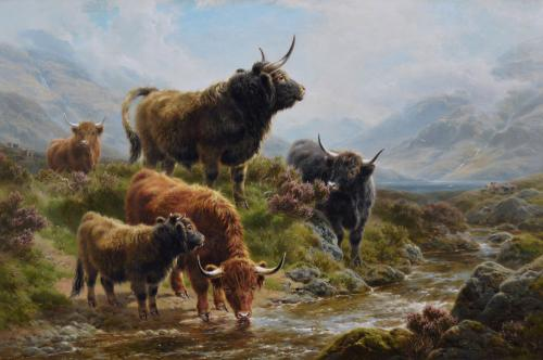 William Watson Jnr | Wandering Through the Glen | oil on canvas