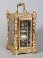 Drocourt Empire Style Carriage Clock side