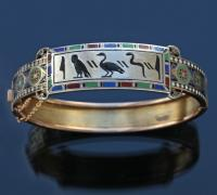 EMILE-DÉSIRÉ PHILIPPE 1834-C.1880 (1834-c.1880) Early Egyptian Revival Antique Hinged Bangle