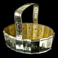 VIENNA SECESSION Silver Oval Basket