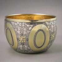 VICTORIAN Parcel-Gilt Bowl by GEORGE FOX. London 1873.