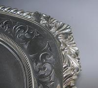 A Victorian Shaped Oval Tray