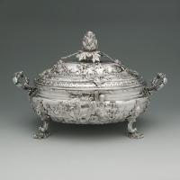 A George II Antique English Silver Soup Tureen