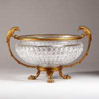 F & C OSLER (worked 1807-1976) A late 19th century cut glass bowl