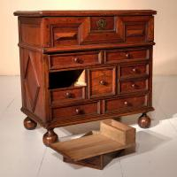 Early 18th Century Walnut Table Cabinet