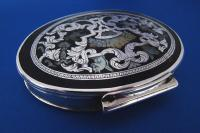 17th Century Silver, Mother of Pearl & Tortoiseshell Snuff Box