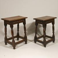 A Fine Pair of Mid 17th Century Oak Joint Stools