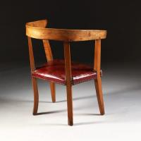 A Mid 19th Century French Elm Alpine Chair