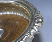 An Antique Silver George III Wine Coaster