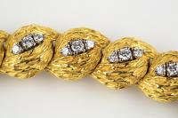 Georland of Paris, 18 Karat Gold and Diamond Bracelet, French circa 1965
