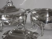Pair Old Sheffield Plate Silver vegetable tureens, circa 1820