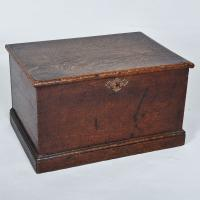 Small Antique Oak Box