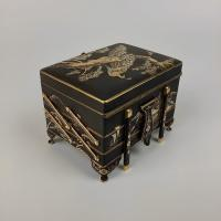 Japanese Damascene box bearing mark of the Fujii Yoshitoyo Damascene Co., Meiji Period