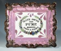 Sunderland Lustre Marine Plaque, Mate Sound the Pump