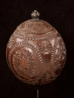 Carved and decorated coconut_e